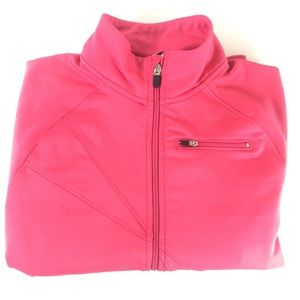 Champion Zip Up Track Jacket In Neon Pink